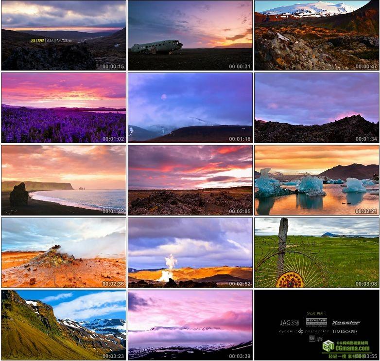 AA0105-冰岛的午夜阳光__Midnight_Sun_Iceland高清实拍视频素材宣传片下载