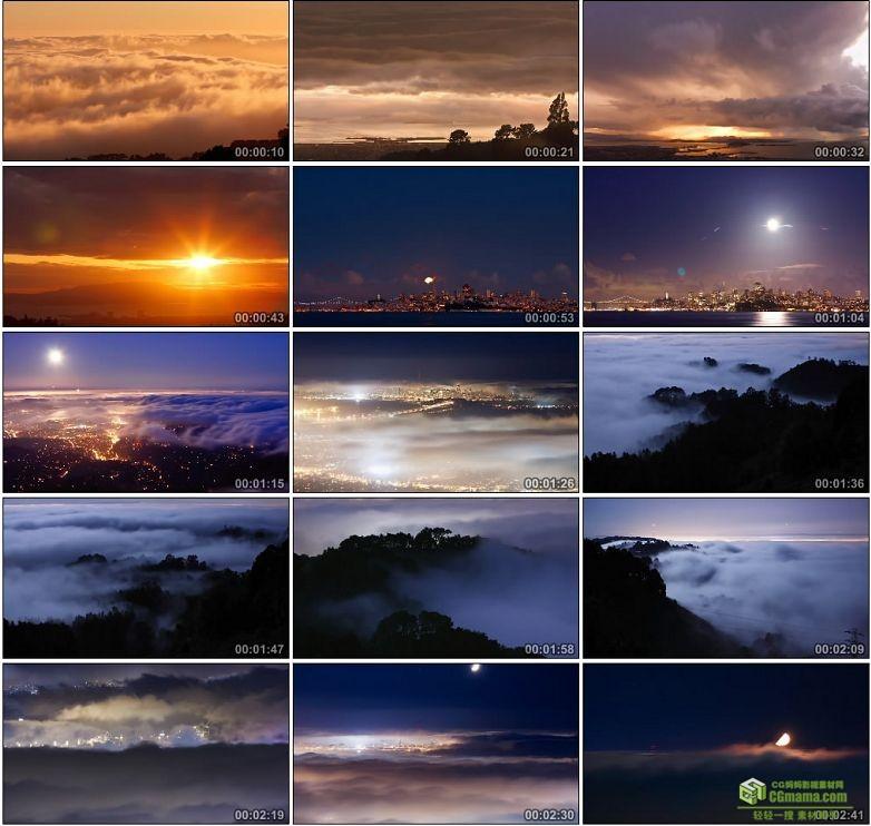 AA0106-不曾看到的海洋__The_Unseen_Sea云海城市夜景灯光高清实拍视频素材下载