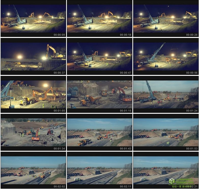 AA0107-拆大桥__A_Bridge_Too_Far延时摄影高清实拍视频素材