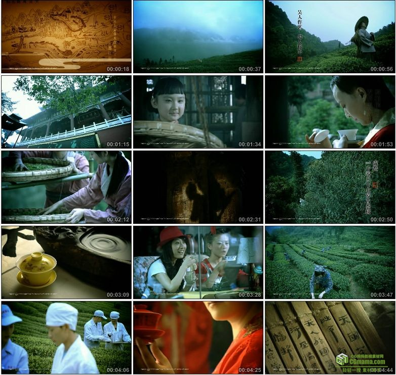 AA0188-【茶在中国_品在成都】采茶喝茶茶文化高清实拍视频素材宣传片下载