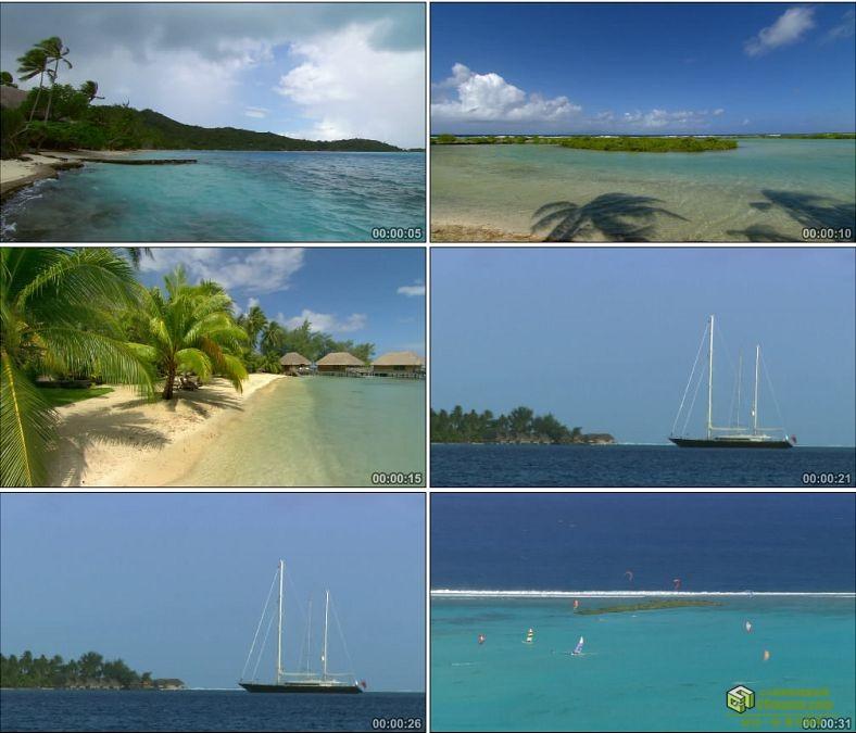 YC0964-马尔代夫海上海边美景景色高清实拍视频素材