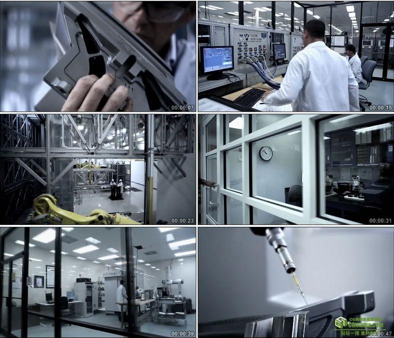 YC0979-工程师科学家科学技术科研研究实验工业生产高科技高清实拍视频素材