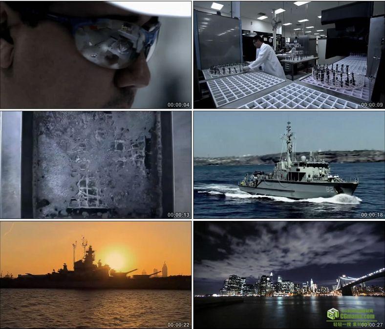 YC0981-军工产业工业设计生产战舰军舰电力系统高清实拍视频素材