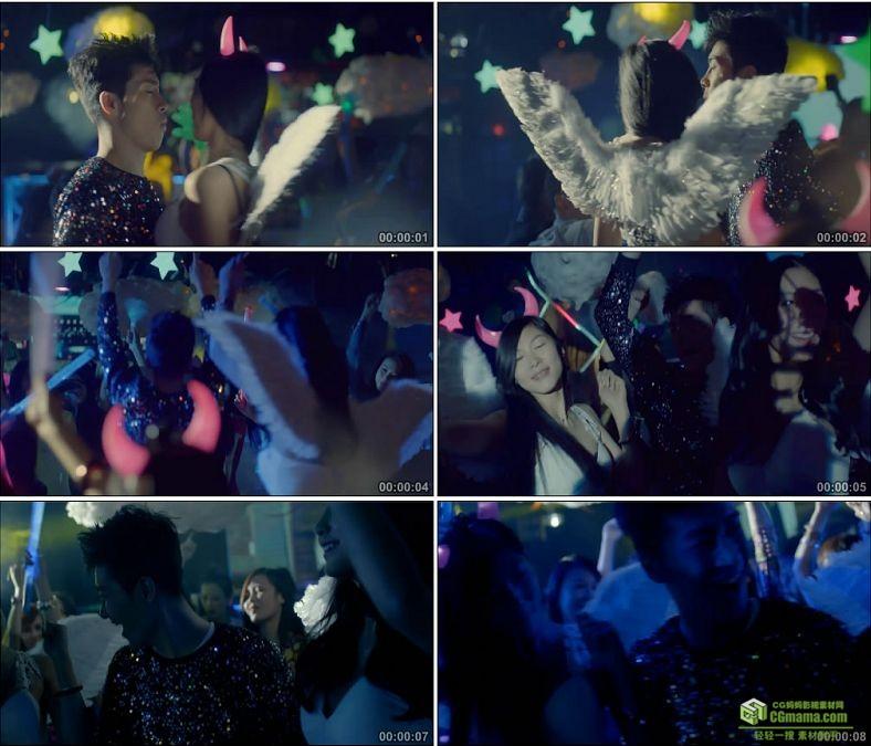YC0987-酒吧夜店跳舞动感高清实拍视频素材