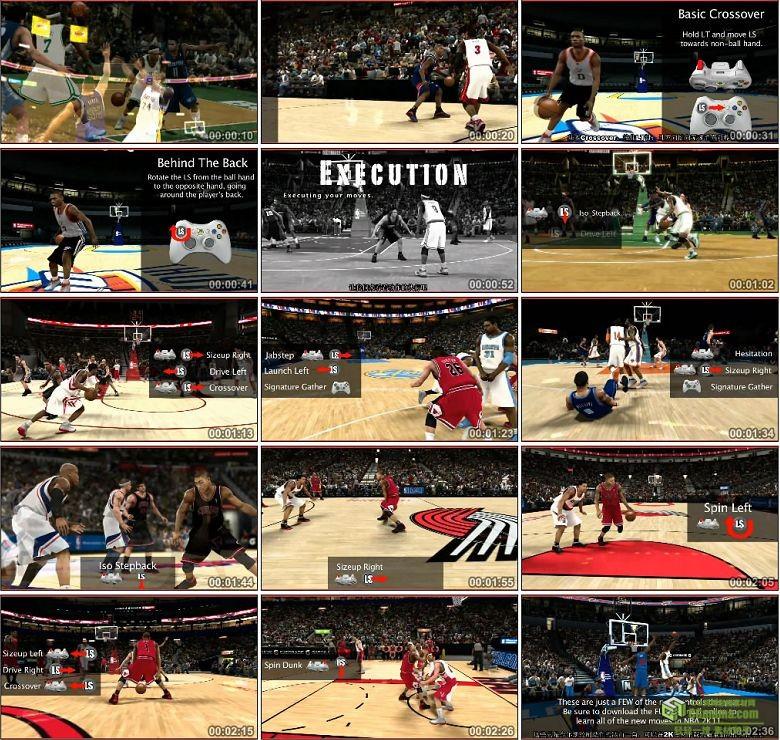 AA0353-全美职业篮球联赛2K11官方宣传片操作控制篇高清视频下载