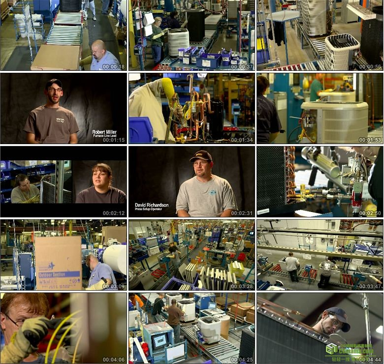 AA0364- 空调制造企业宣传片电器生产车间高清实拍视频素材