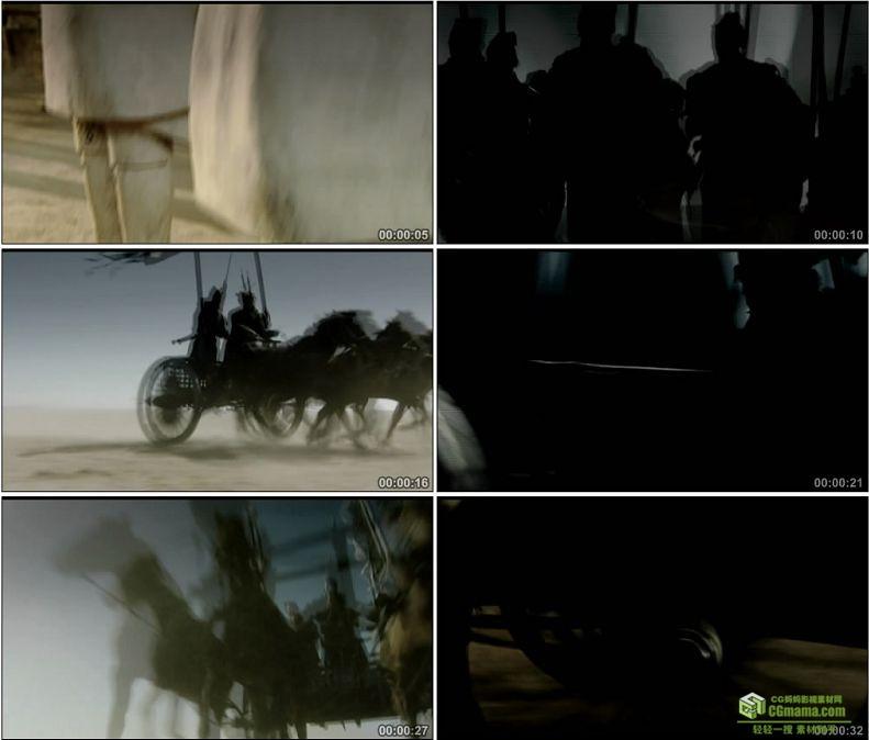 YC1033-秦国军队秦兵马俑军队高清实拍视频素材