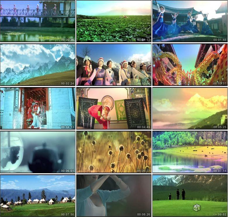AA0369-云南省2013宣传片少数民族丽江大理玉龙雪山古城高清实拍视频素材
