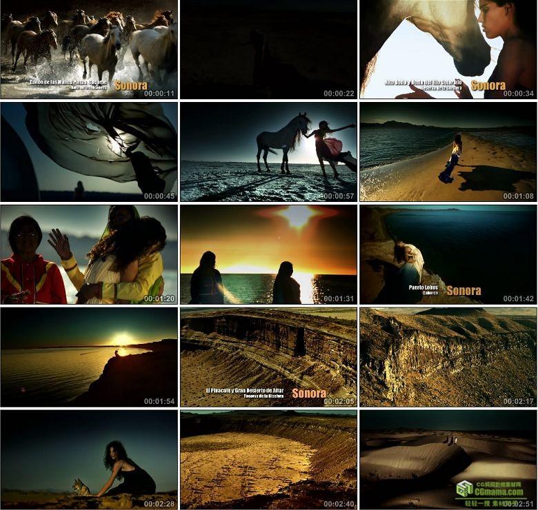 AA0374-墨西哥索诺拉州美女与野兽高清实拍视频素材宣传片下载