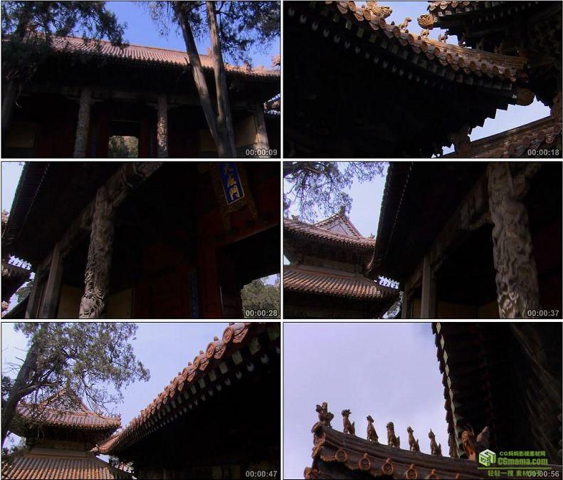 YC1058-孔庙的大成门独具一格的勾心斗角建筑高清实拍视频素材