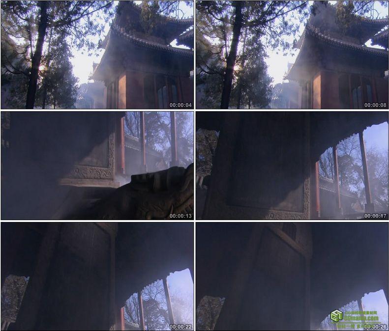 YC1060-孔庙里立有石碑的碑亭高清实拍视频素材