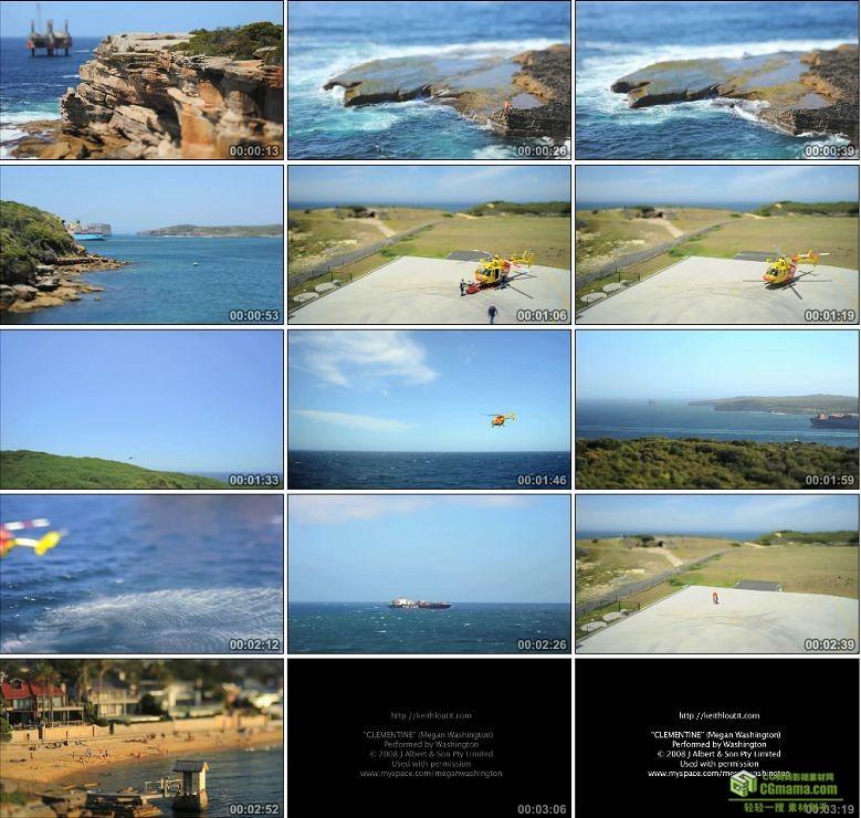 AA0112-海面直升机救援队__Bathtub_IV大海轮船高清实拍视频素材