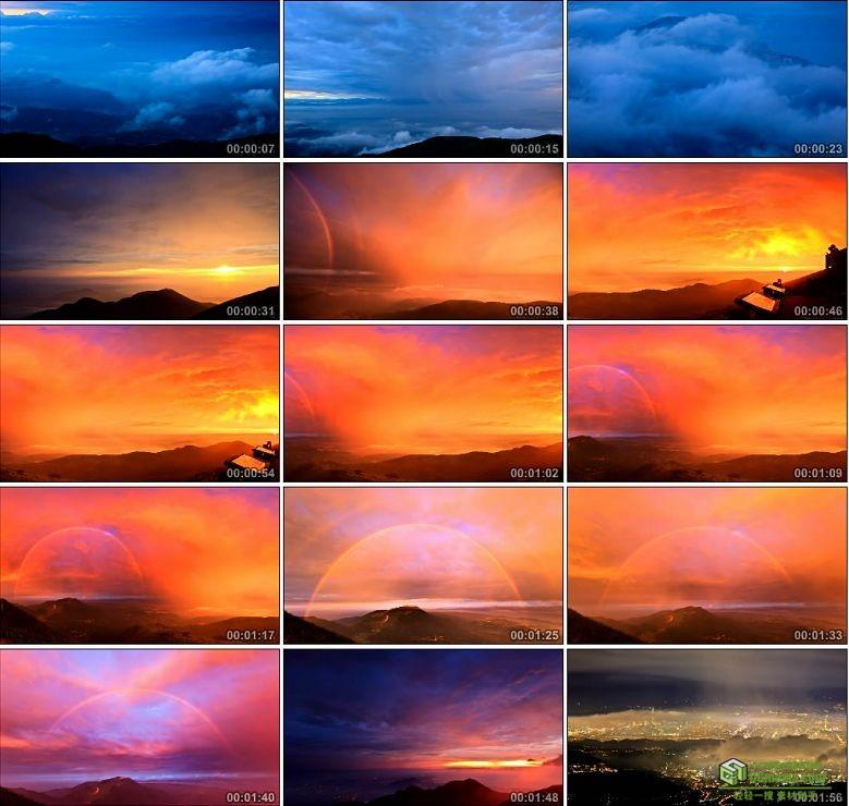 AA0122-台湾七夕情人节云雾涌动大屯山美景唯美光效高清实拍视频素材