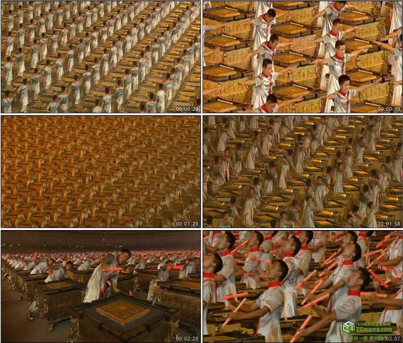 YC1076-中国北京奥运会开幕式击缶共颂论语(有声)高清实拍视频素材