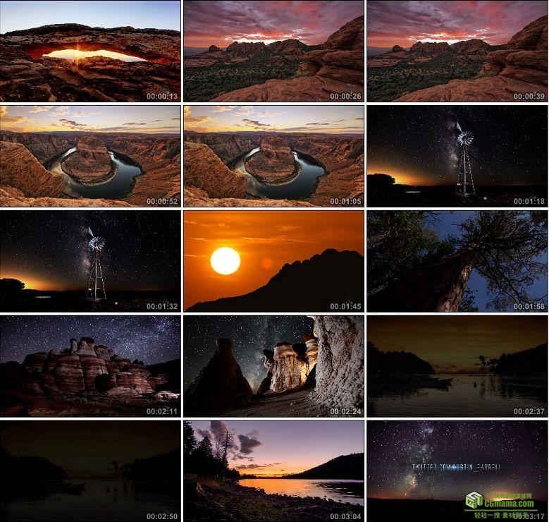 AA0148-美丽的风景日落夕阳海边山川星空高清实拍视频素材