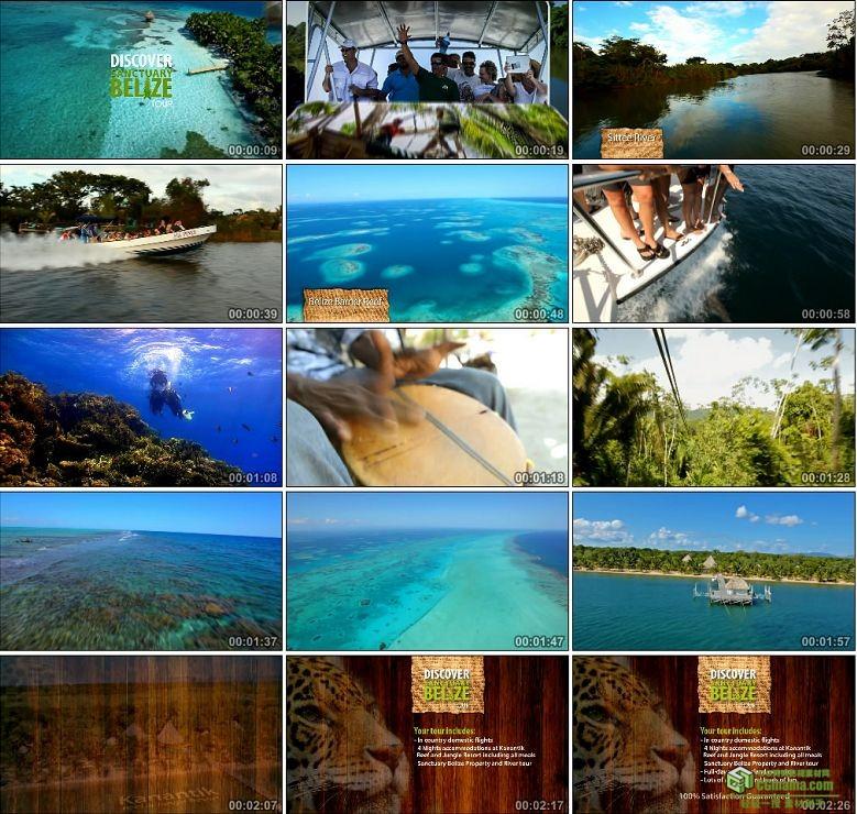 AA0155-探索伯利兹旅游高清实拍视频素材