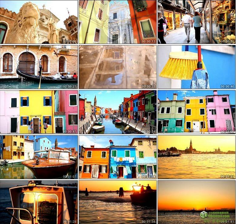 AA0157-威尼斯布拉诺岛高清实拍视频素材旅游观光宣传片