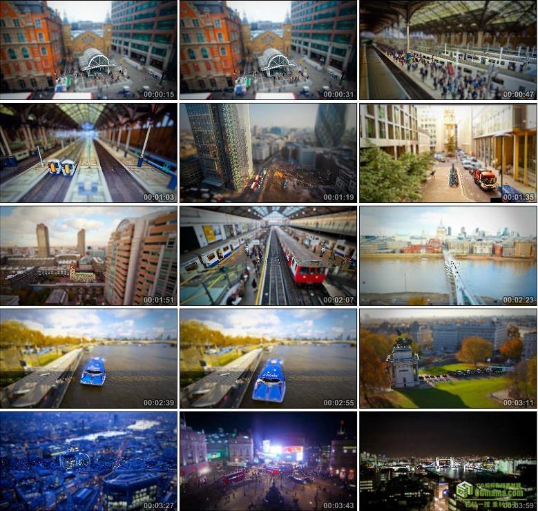 AA0158-微小的伦敦英国城市风景风光高清实拍视频素材
