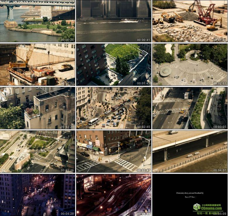 AA0165-移轴摄影-玩具城市微型城市高清实拍视频素材