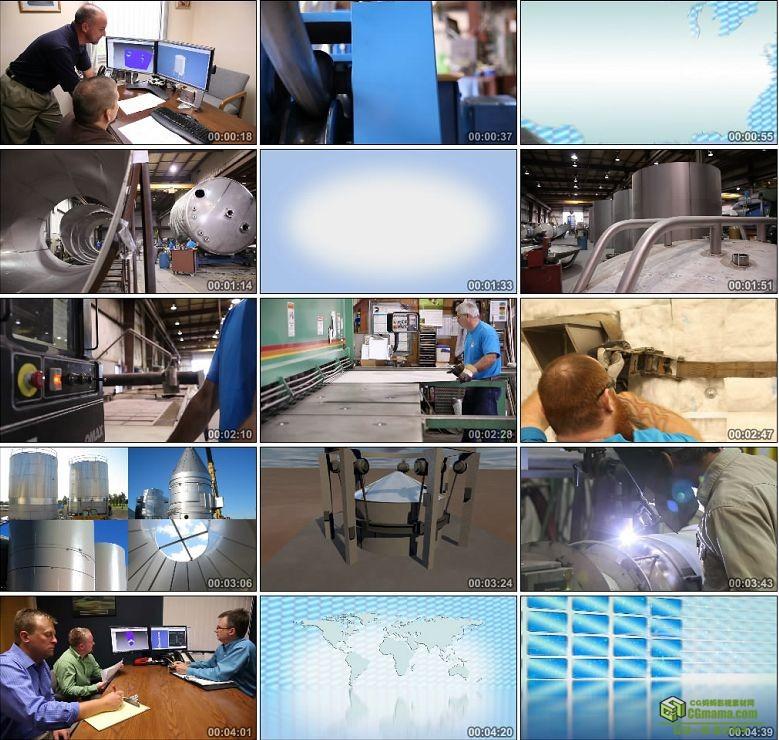 AA0212-SFI不锈钢制造有限公司企业宣传片高清实拍视频素材