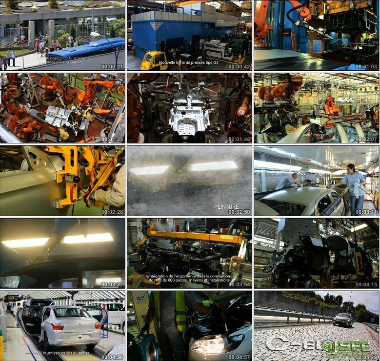 AA0223-标致生产线汽车生产车间高清实拍视频素材宣传片下载
