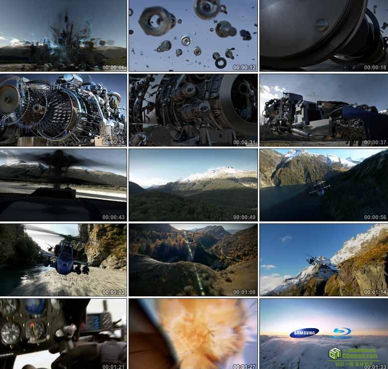 AA0252-三星演示HD - 蓝光音效7.1声道机械直升机高清实拍动画视频素材