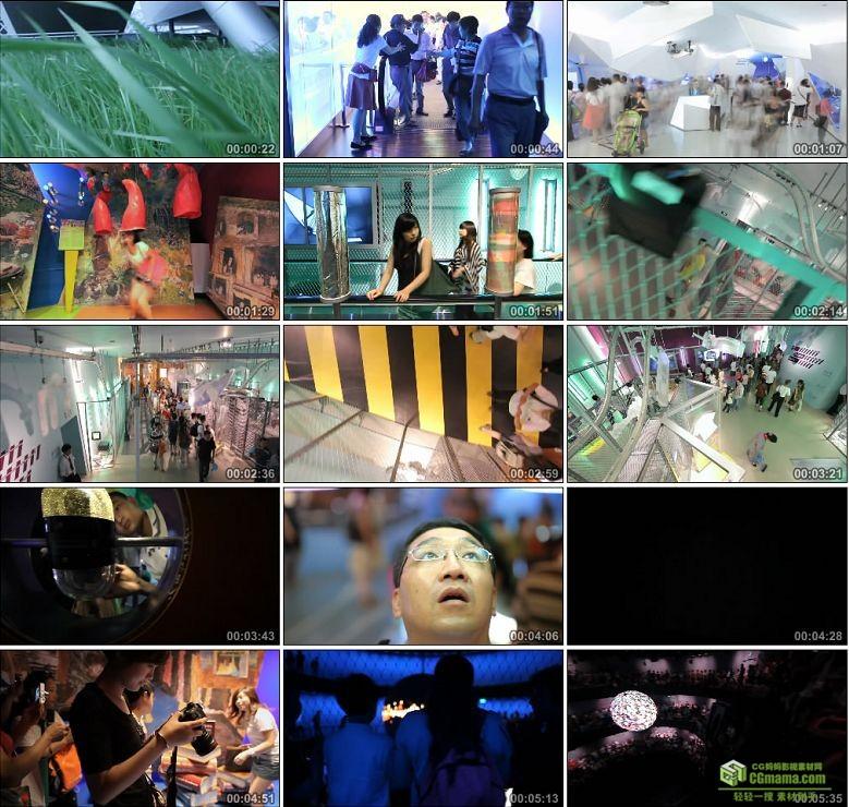 AA0291-世博会德国馆高清实拍视频素材