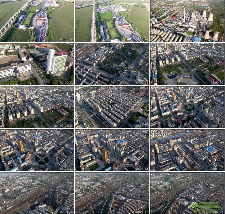AA0334-四平城市宣传片高清航拍实拍视频素材下载