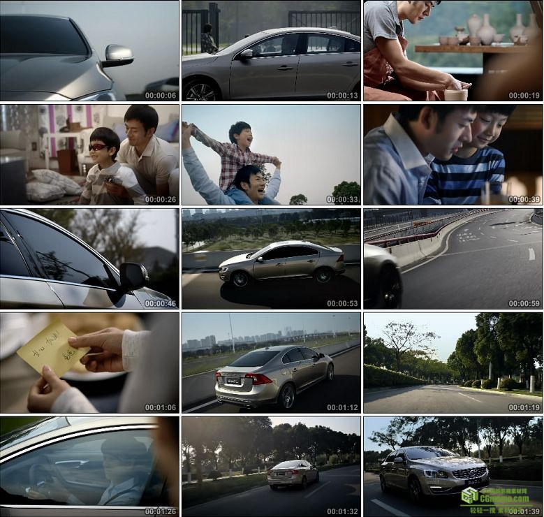AA0434-送孩子上学 父子亲情 温馨一家人家居美好生活沃尔沃汽车高清实拍视频宣传片