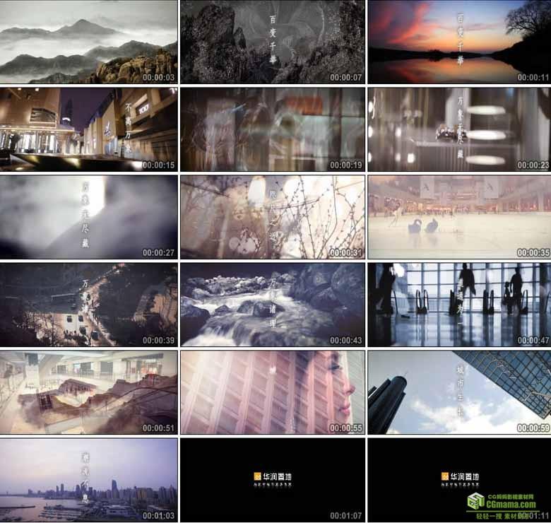 AA0235-华润 置地城市房地产高清实拍视频宣传片素材