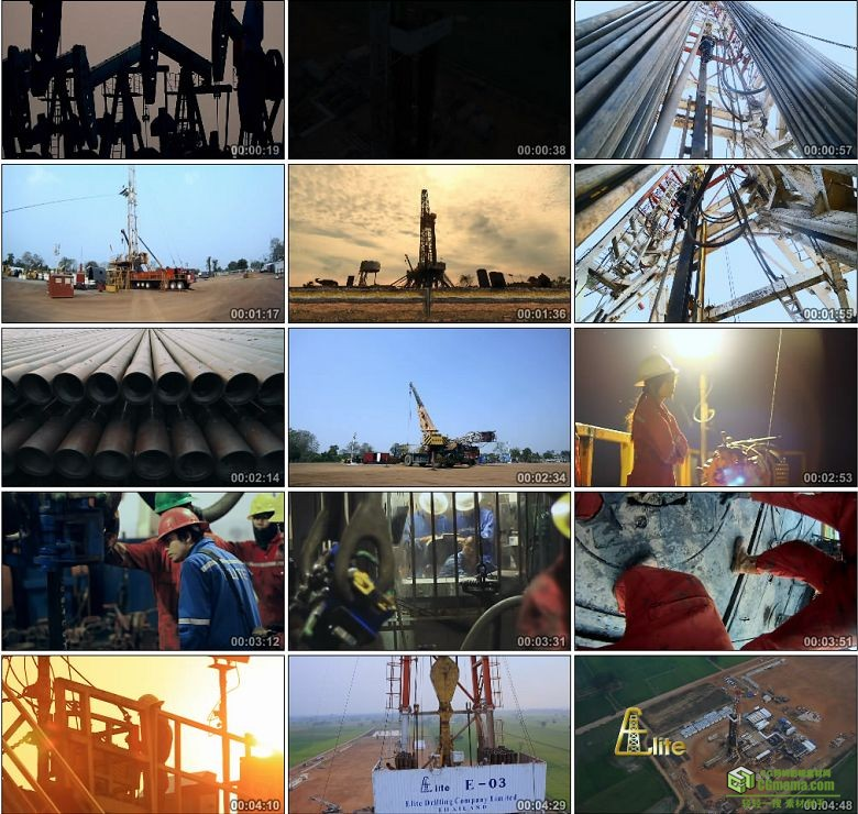 AA0239-精英钻井公司有限公司石油公司工人高清实拍视频素材宣传片