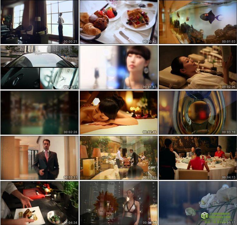 AA0393-国际酒店豪华餐厅厨师厨房商务水疗健身美容院spa高清实拍视频素材宣传片