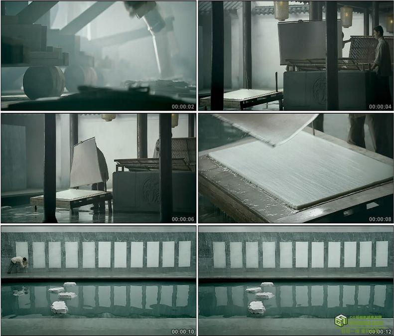 YC1083-中国造纸术传统工艺高清实拍视频素材