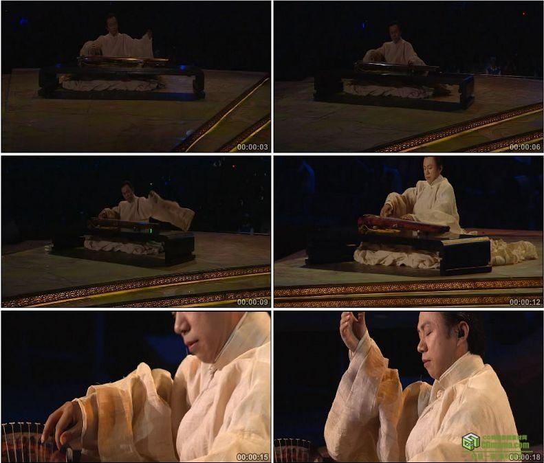 YC1085-中国古琴七弦琴弹琴传统乐器艺术高清实拍视频素材