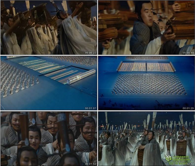 YC1087-中国北京奥运会开幕式3000孔子弟子手执竹简高声吟诵《论语》高清实拍视频素材
