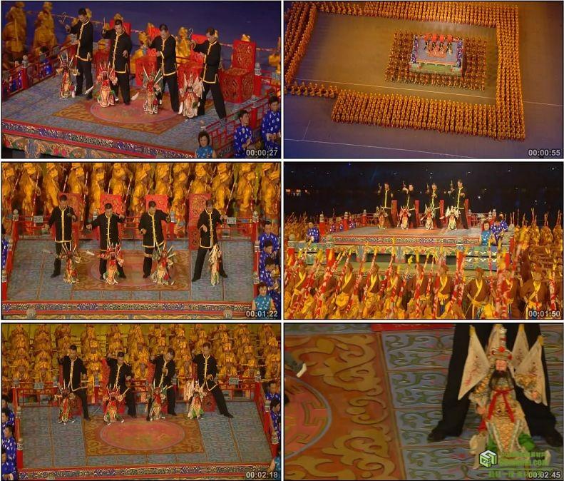 YC1089-中国北京奥运会开幕式京剧木偶戏曲中国国粹高清实拍视频素材