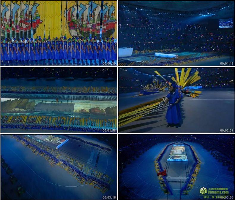 YC1092-中国北京奥运会开幕式郑和下西洋司南高清实拍视频素材