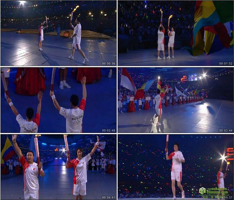 YC1098-中国北京2008奥运会圣火传递高清实拍视频素材