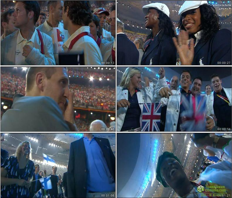 YC1102-中国背景奥运会外国运动员科比球星高清实拍视频素材