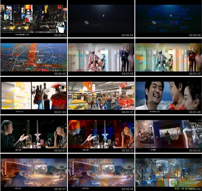 AA0423-房地产宣传片3D三维建筑游历动画商场购物建筑漫游高清动画+实拍视频素材