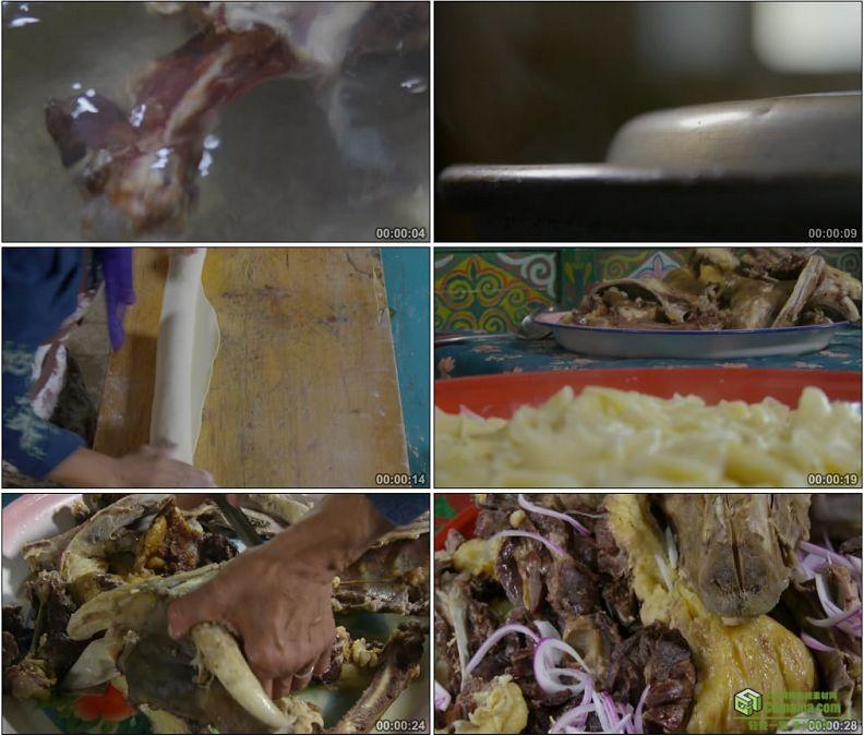 YC1136-藏族羊肉配宽面地道风味美食娜仁高清实拍视频素材