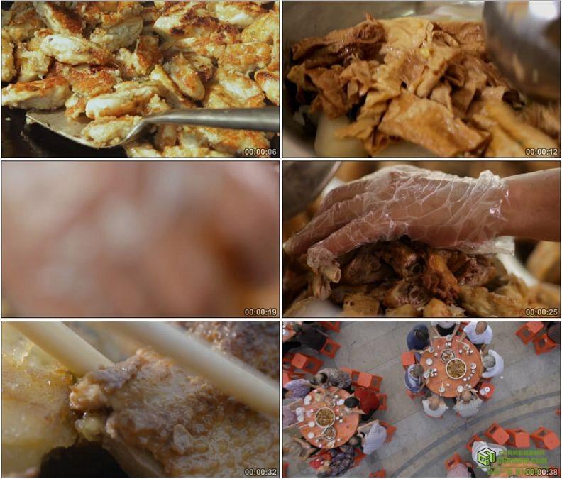 YC1142-传统农家菜肴农家宴席高清实拍视频素材