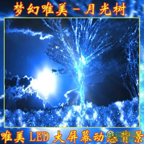 LED0061-唯美许愿树梦幻粒子(含音乐)高清LED背景视频素材