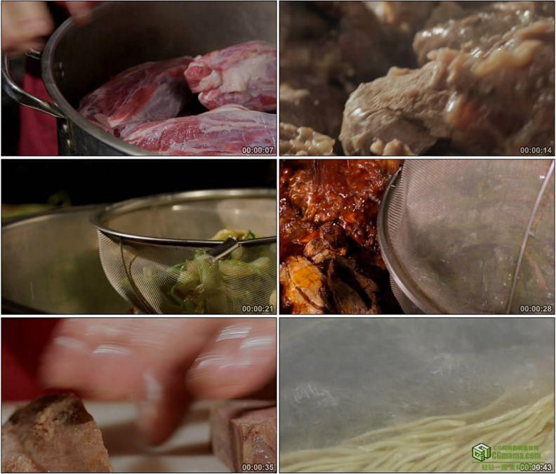 YC1166-红烧牛肉面正宗美味美食高清实拍视频素材