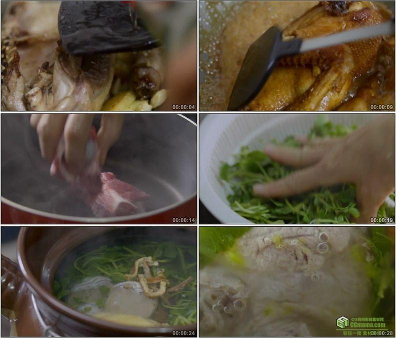 YC1174-老鸭汤鱼汤猪骨汤广式靓汤美食高清实拍视频素材