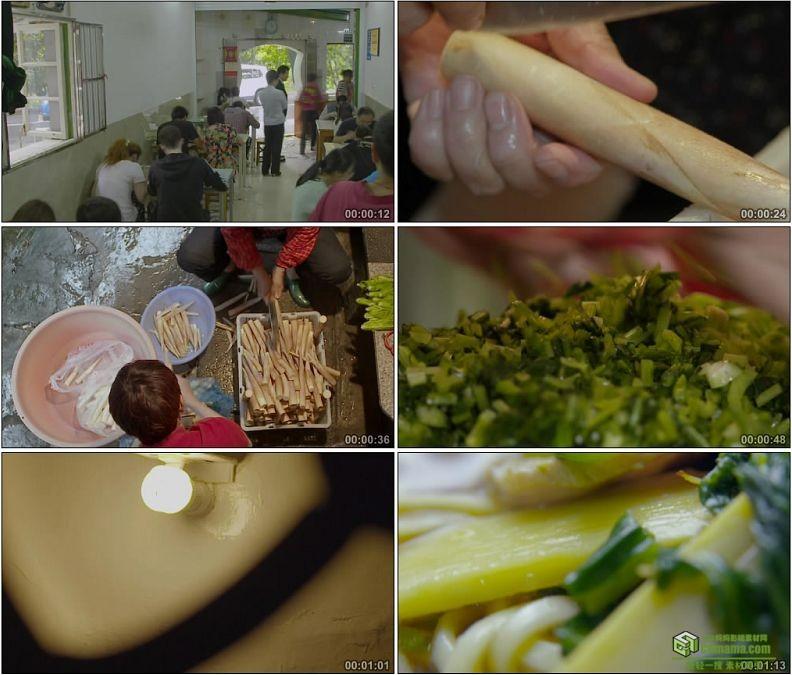 YC1177-面馆食客多配料煮面美食高清实拍视频素材