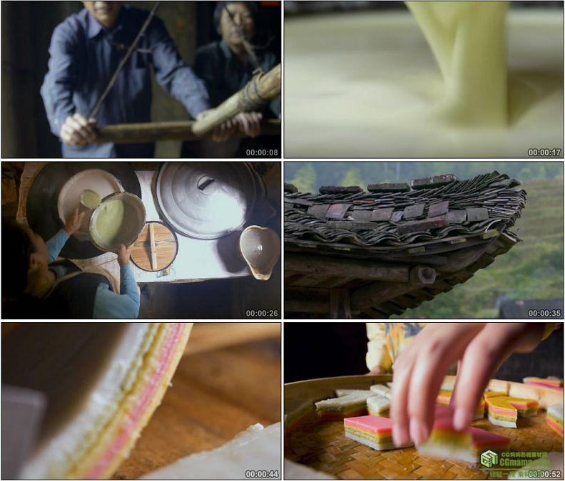YC1178-民间美食大米制作九层糕美食小吃高清实拍视频素材