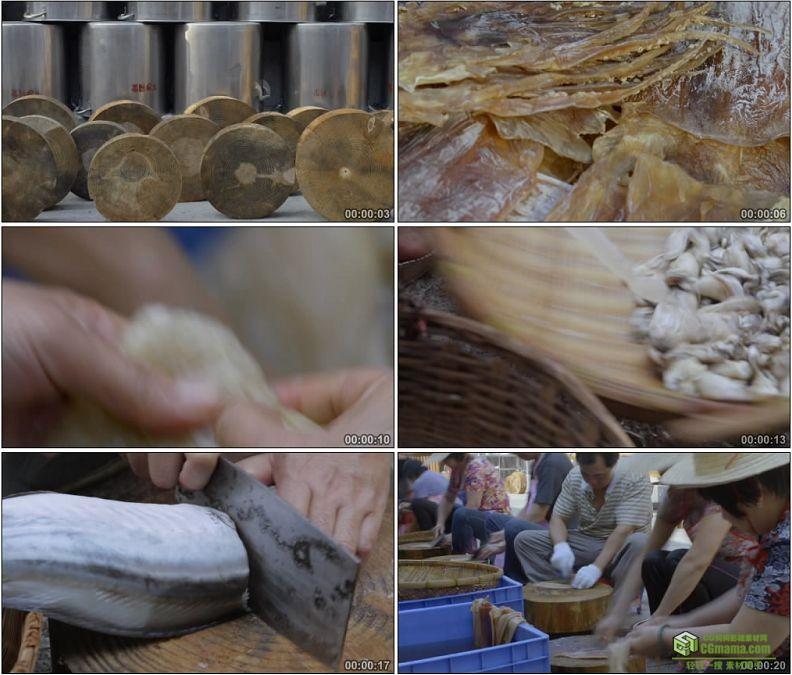 YC1184-食品海鲜清洗加工高清实拍视频素材