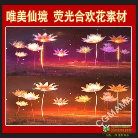 LED0122-LED背景素材极好花背景粒子花朵唯美高清视频素材
