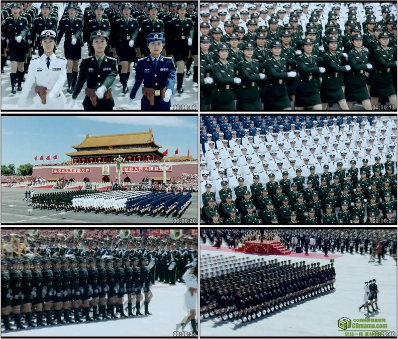 YC1236-中国阅兵式女兵方队巾帼英雄高清实拍视频素材